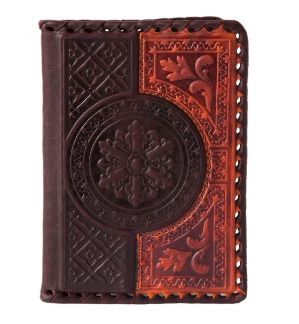 Обложка для паспорта. Цвет коричнево-оранжевый. Арт. 009-08-41