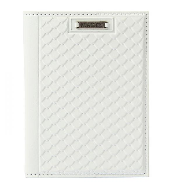 """Обложка для паспорта """"Fleur"""". Цвет белый. Арт. 009-08-58"""