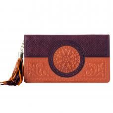Портмоне. Цвет коричнево-оранжевый. Арт. 061-08-41