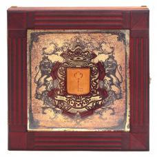 Футляр для ключей настенный. Цвет коричневый. Арт. 077-08-05