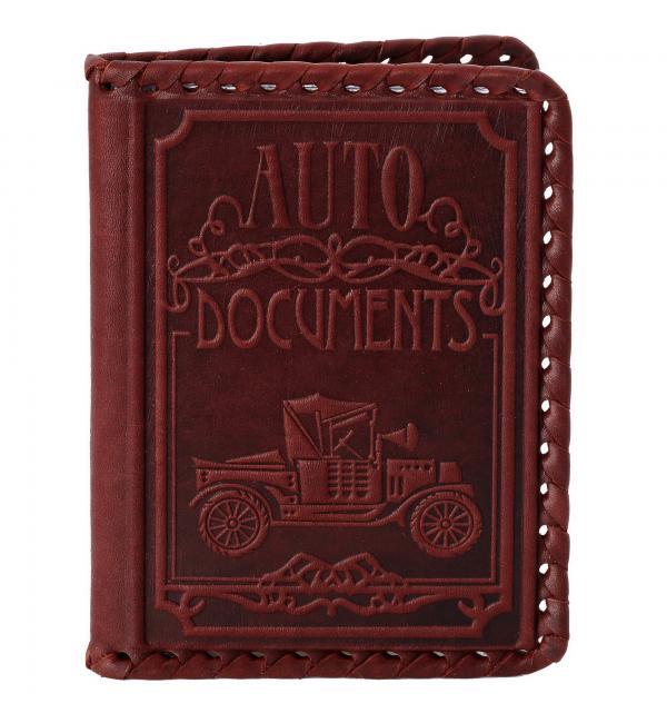 Обложка для водительского удостоверения. Цвет бордо. Арт. 003-07-05