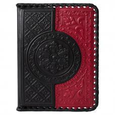 Обложка для водительского удостоверения. Цвет чёрно-красный. Арт. 003-08-41
