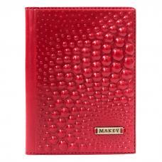 Обложка для паспорта. Цвет красный. Арт. 009-08-50