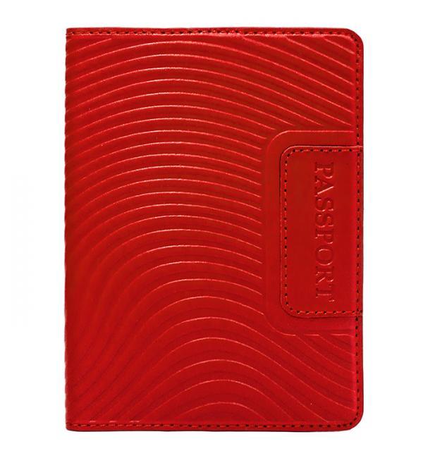 Обложка для паспорта. Цвет красный. Арт. 009-08-54