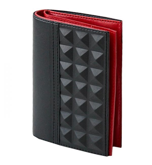 Обложка для документов. Цвет чёрно-красный. Арт. 070-08-44