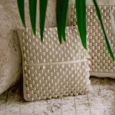 Чехол для подушки с наполнителем. Цвет молочный. Арт. 100-08-01