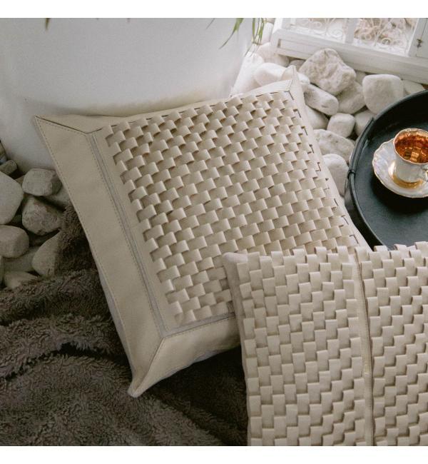 Чехол для подушки с наполнителем. Цвет молочный. Арт. 100-08-02