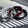 Браслет. Цвет чёрный-красный-белый. Арт. 120-07-01